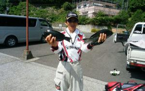 熊本合志の上村さんは、クロを十匹釣ってます! 震災に負けず頑張って!またおいで下さいね♪